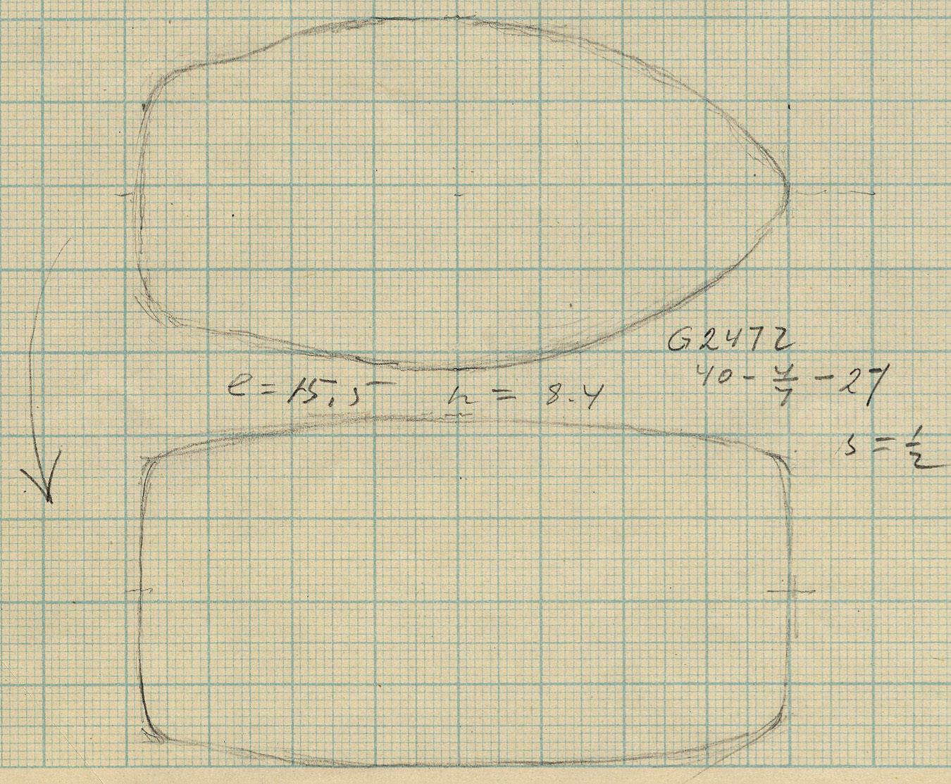 Drawings: G 2472: hammer or axe head