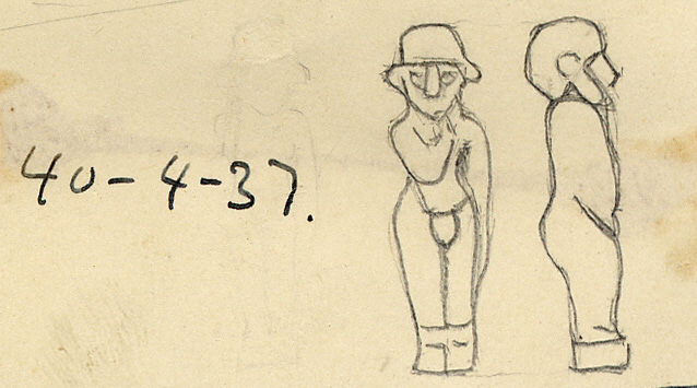 Drawings: G 2472, Shaft Z: amulet, faience