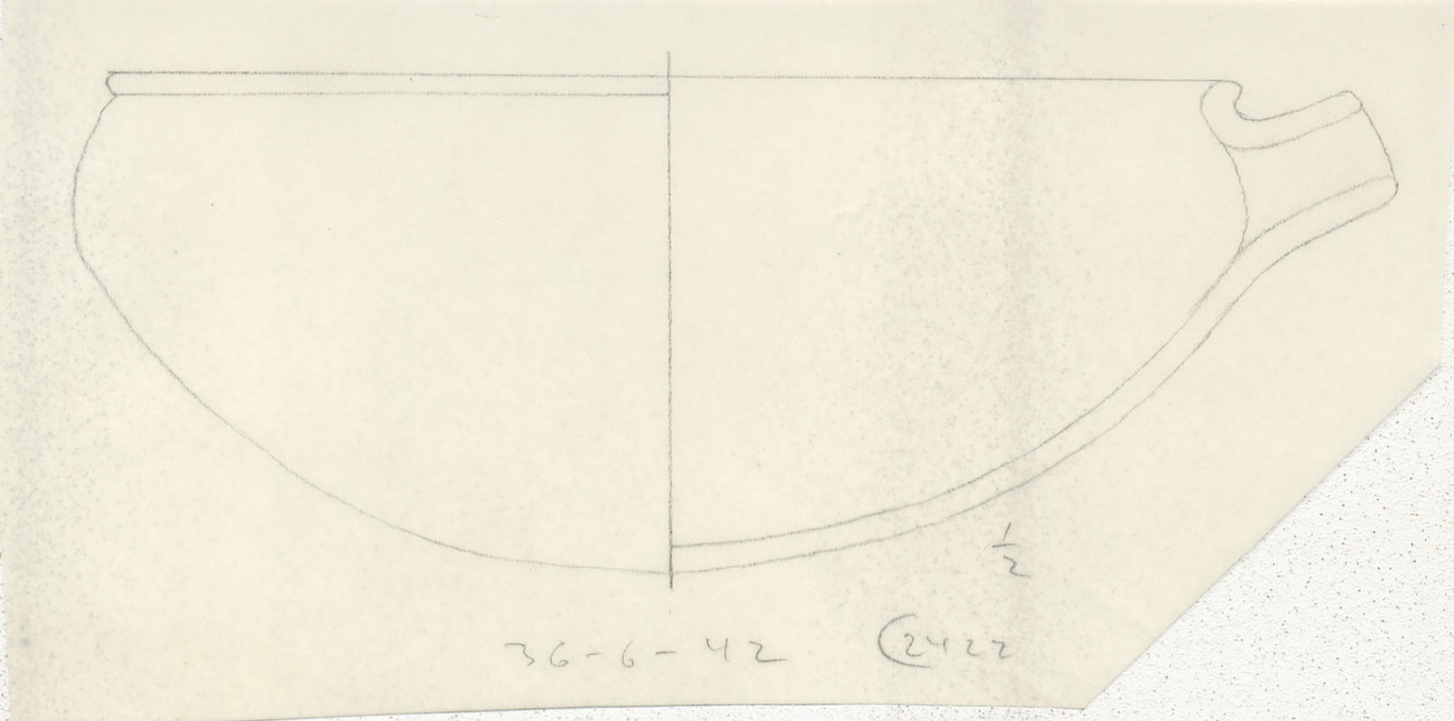 Drawings: G 2422, Shaft A: pottery, bowl with spout