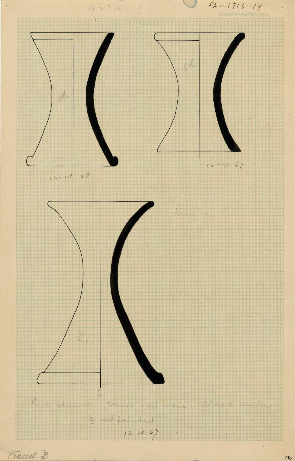 Drawings: G 2330 (= G 5380): pottery, stands
