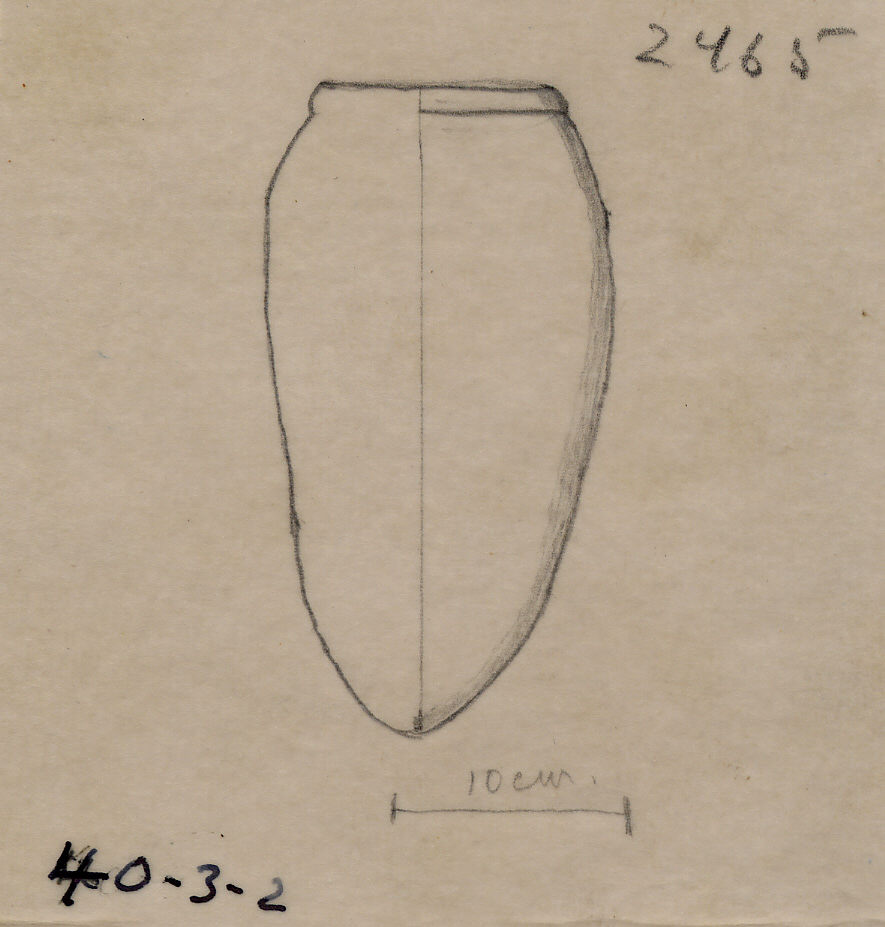 Drawings: G 2465: pottery, offering jar