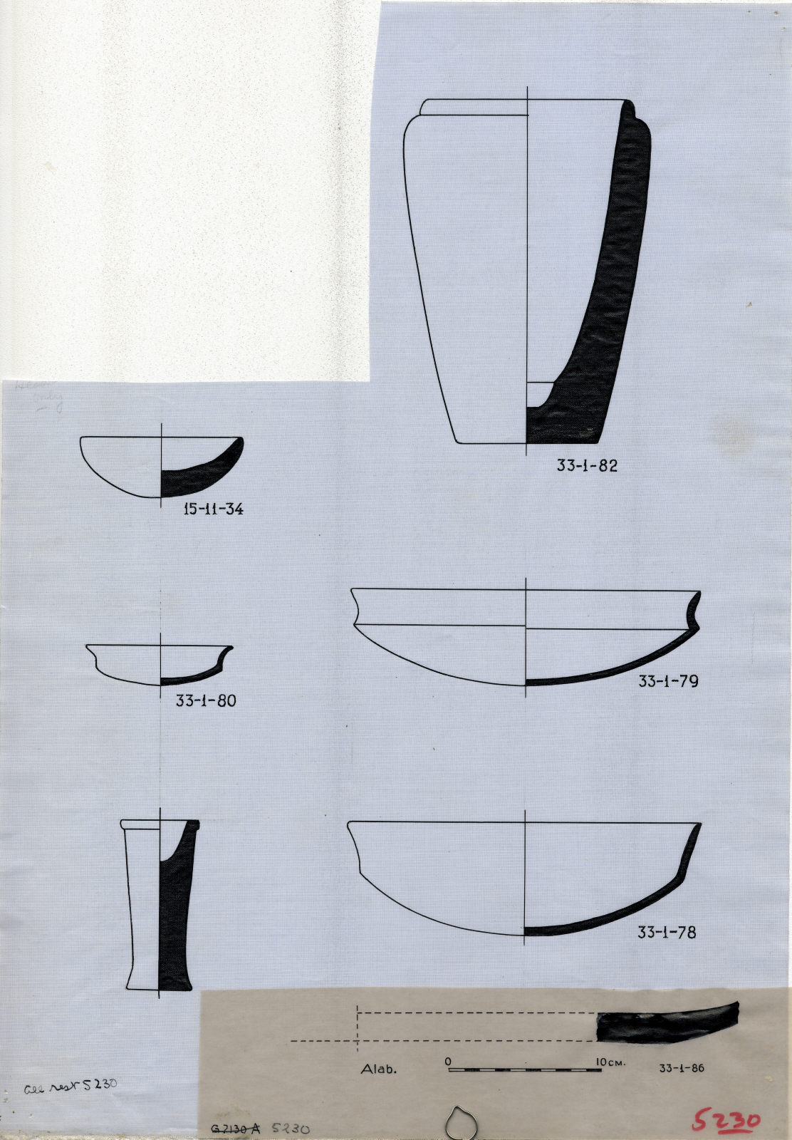 Drawings: G 5230: objects