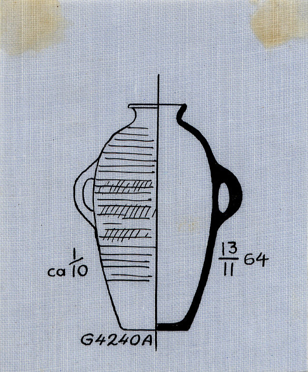 Drawings: G 4240, Shaft A: pottery, jar with two handles