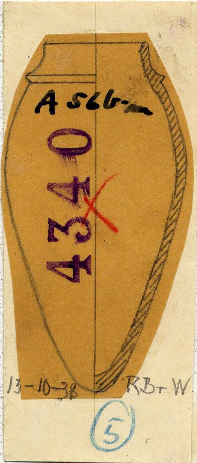 Drawings: G 4340, Shaft A: pottery, model jar