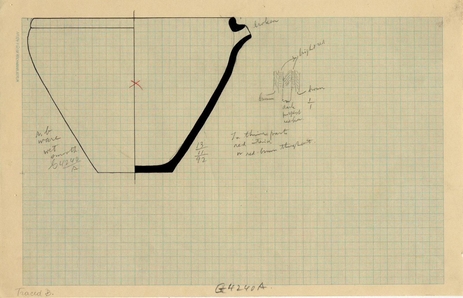 Drawings: G 4240, Shaft A: pottery, basin with spout
