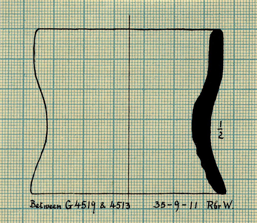 Drawings: Pottery, stand from between G 4519 and G 4513