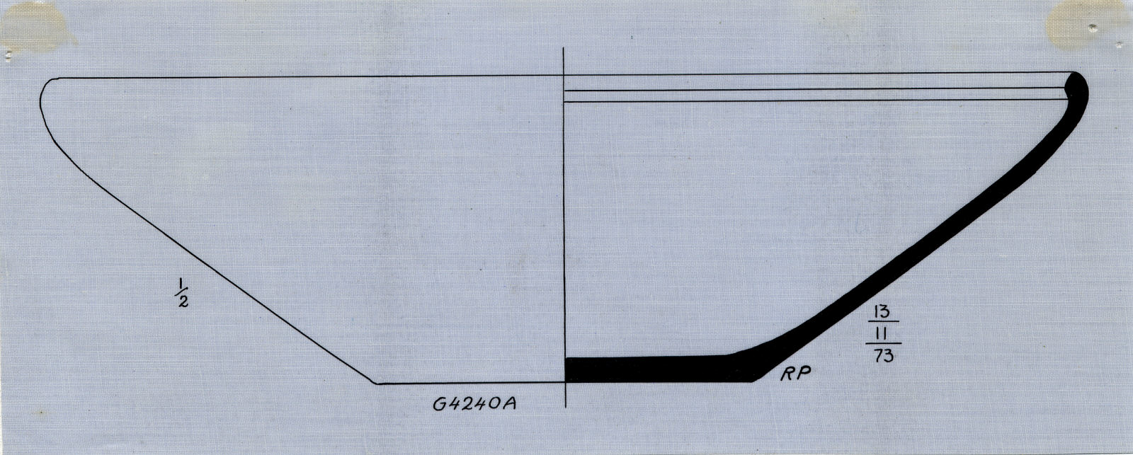 Drawings: G 4240, Shaft A: pottery, bowl