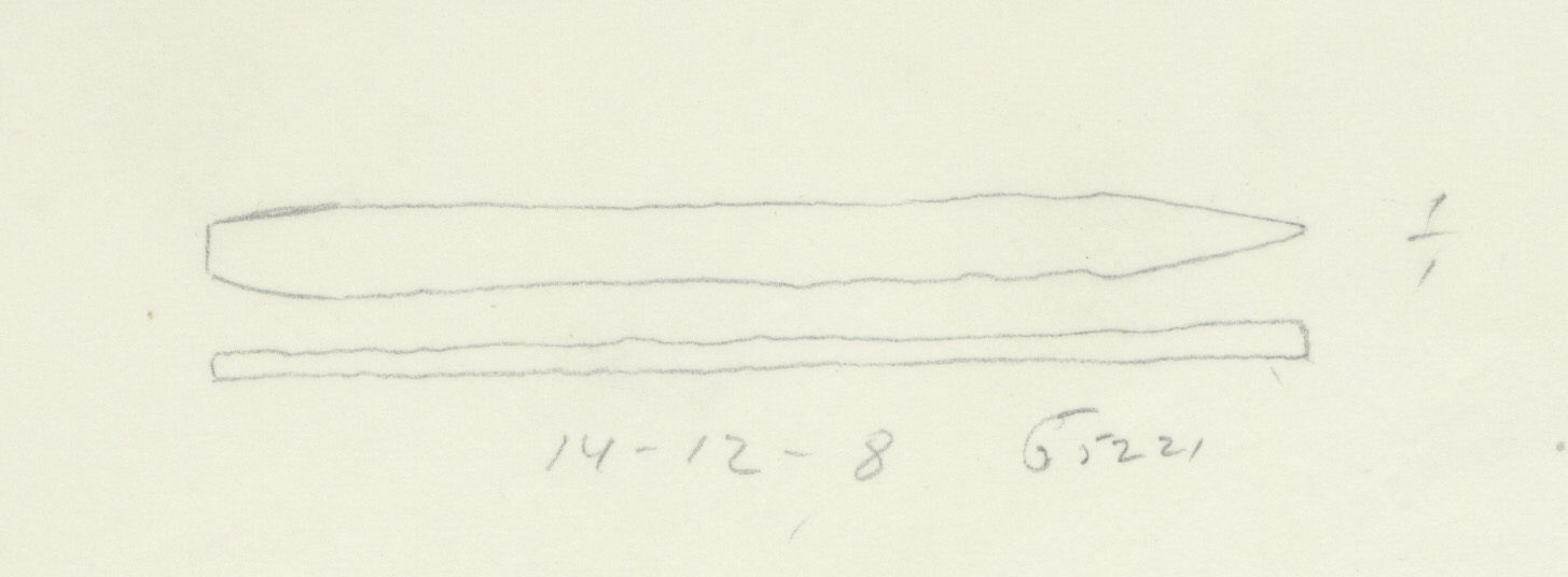 Drawings: G 5221, Shaft A: chisel, copper