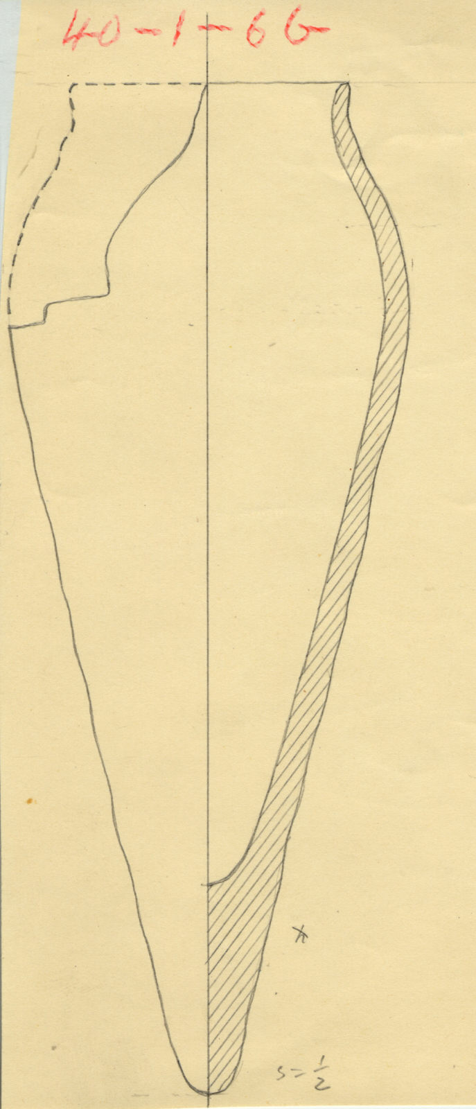 Drawings: G 5243, Shaft C: pottery, offering jar
