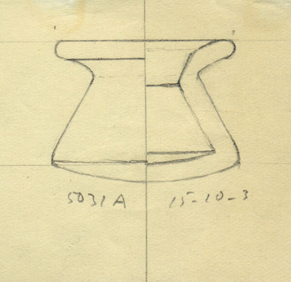 Drawings: G 5031, Shaft A: pottery, bag-shaped jar