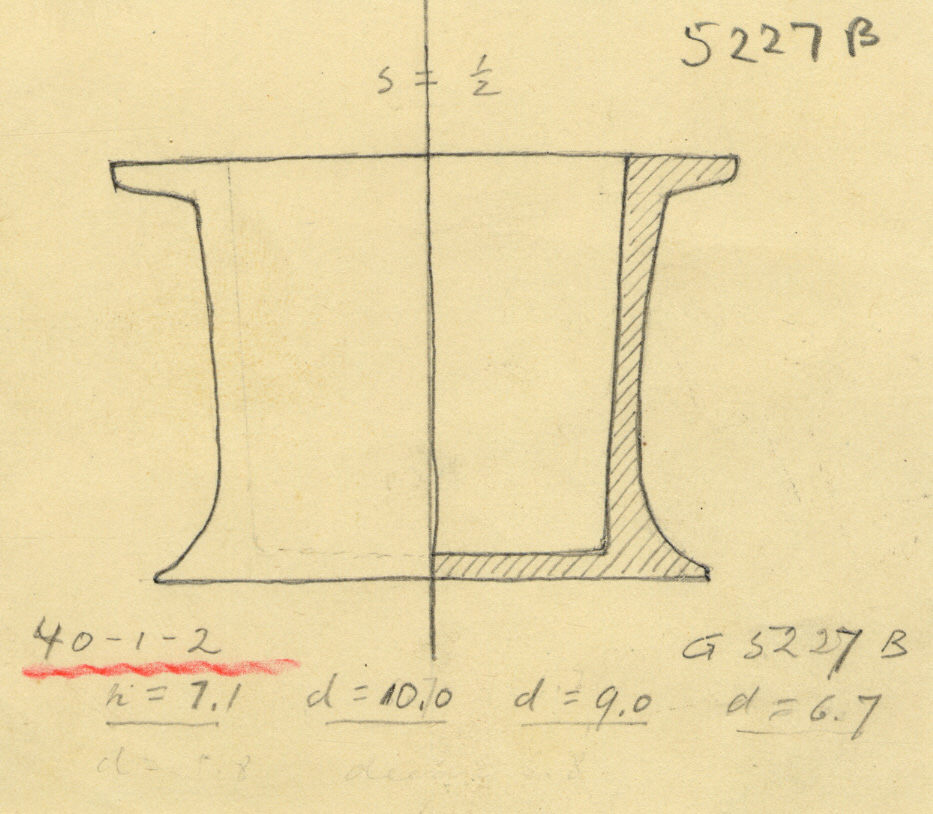 Drawings: G 5227 B: cylinder jar, alabaster