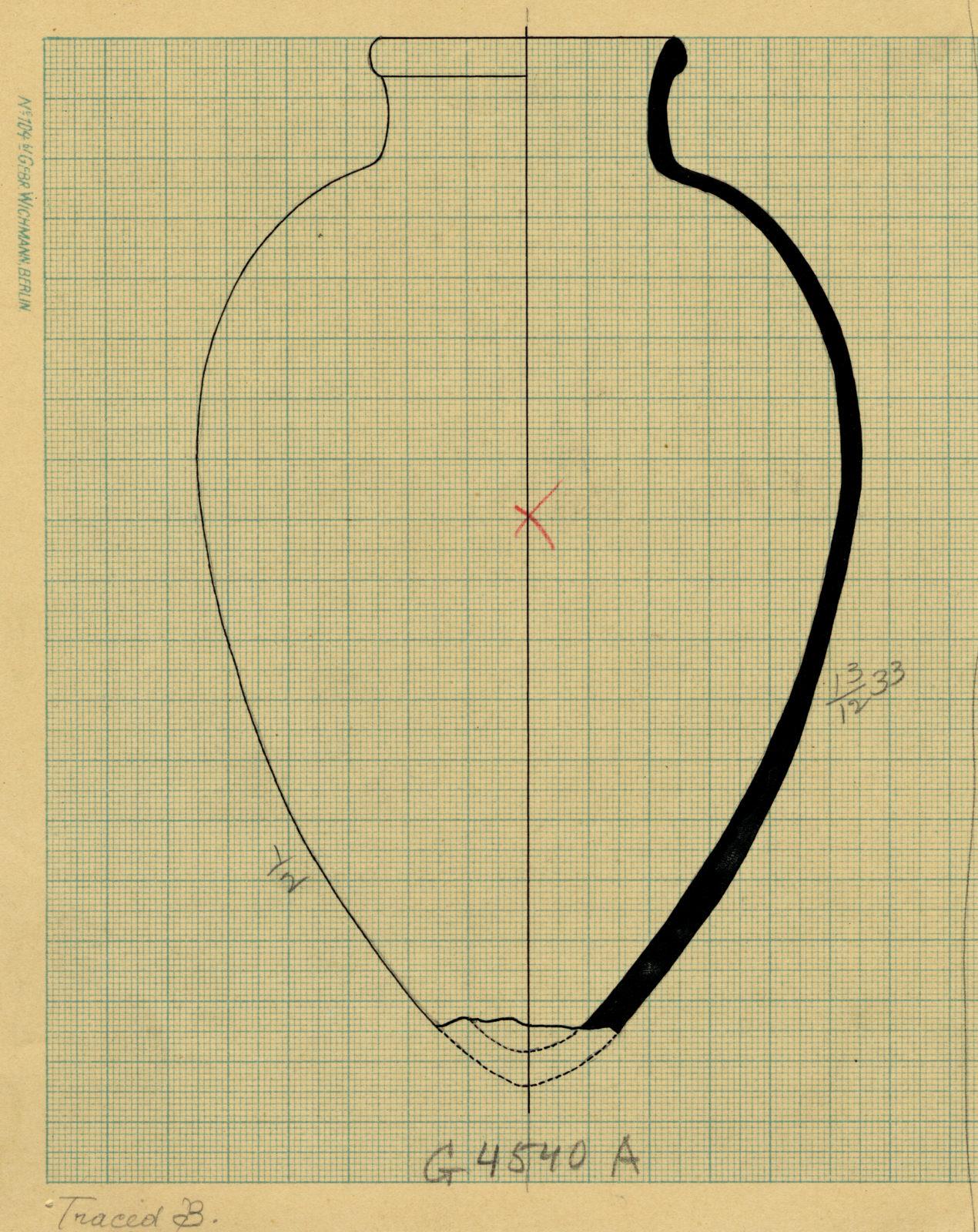 Drawings: G 4540, Shaft A: pottery, jar