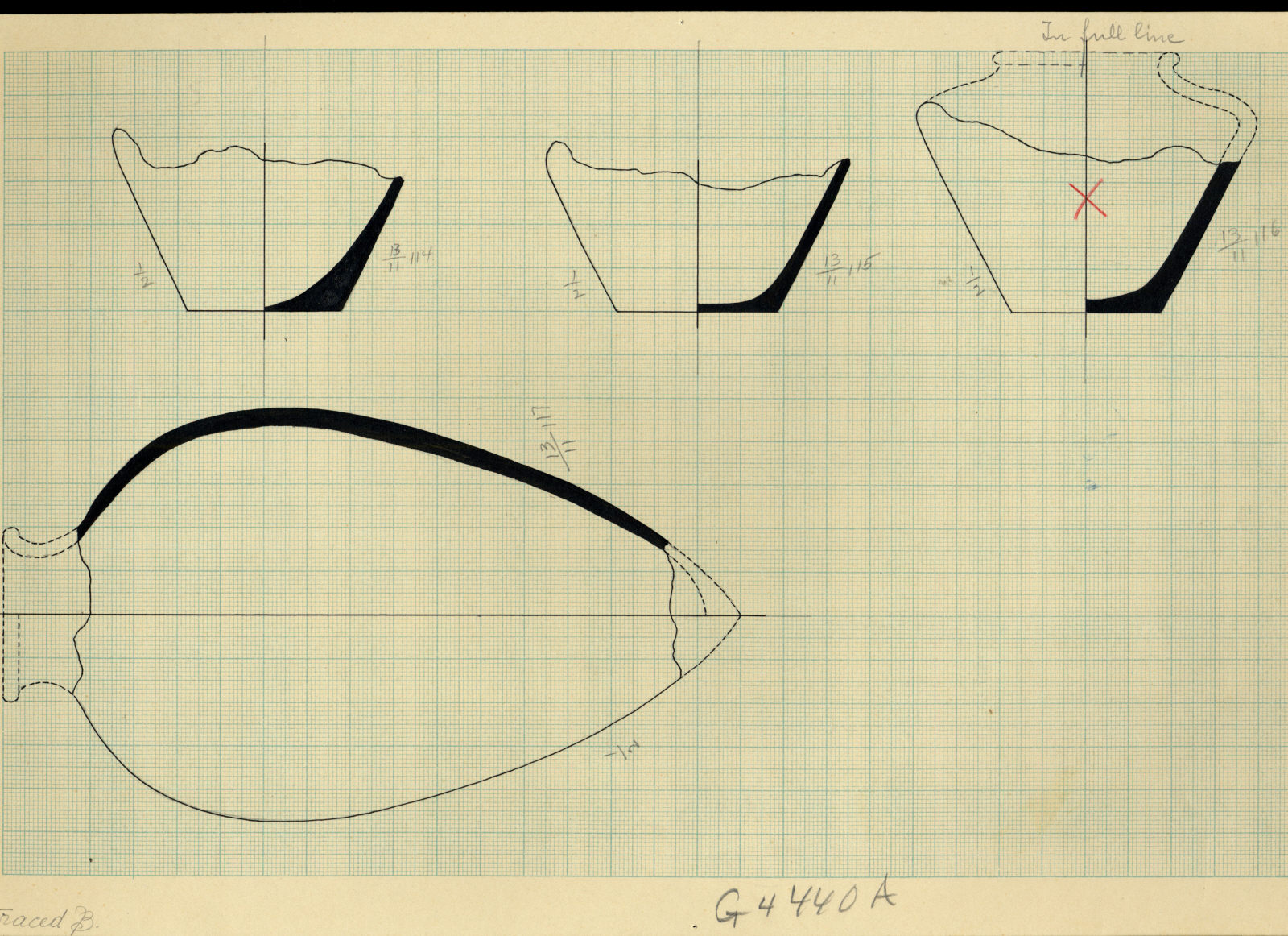 Drawings: G 4440, Shaft A: pottery