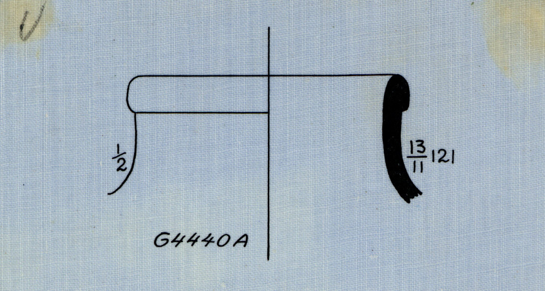 Drawings: G 4440, Shaft A: pottery, jar fragment