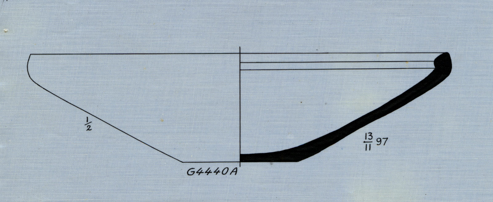 Drawings: G 4440, Shaft A: bowl, alabaster