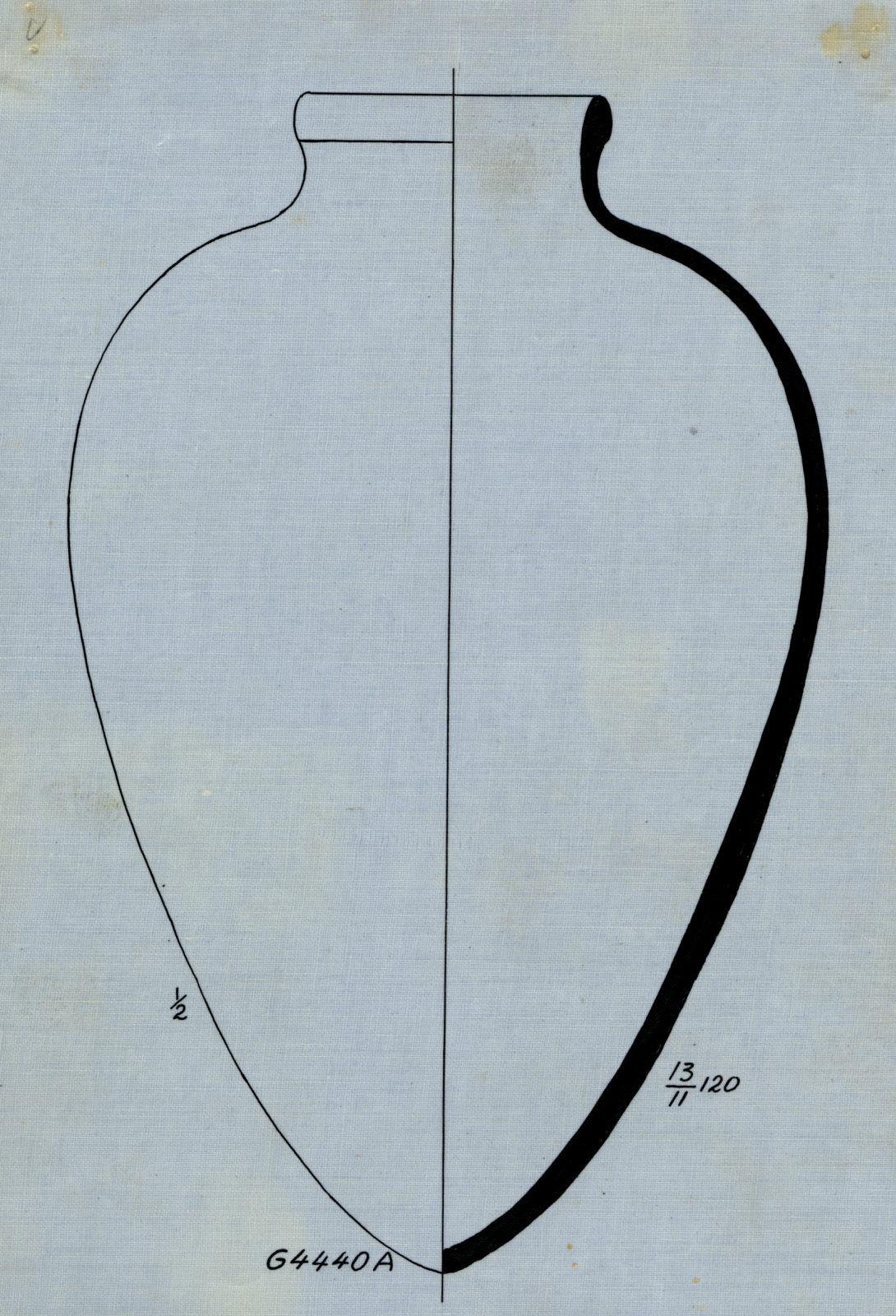 Drawings: G 4440, Shaft A: pottery, jar