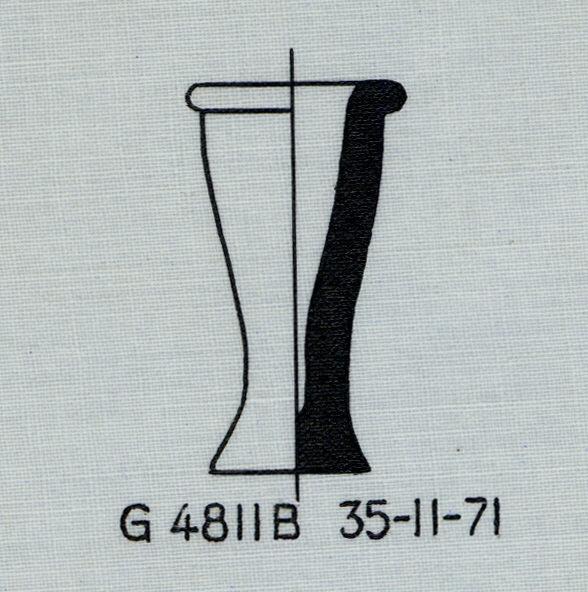 Drawings: G 4811, Shaft B: pottery, model jar