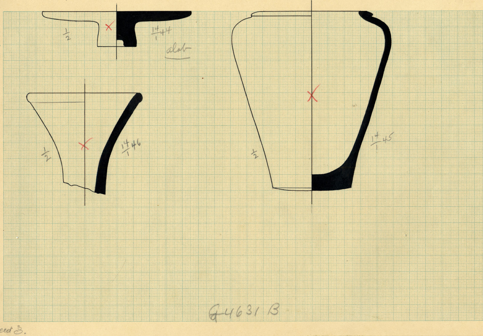 Drawings: G 4631, Shaft B: objects