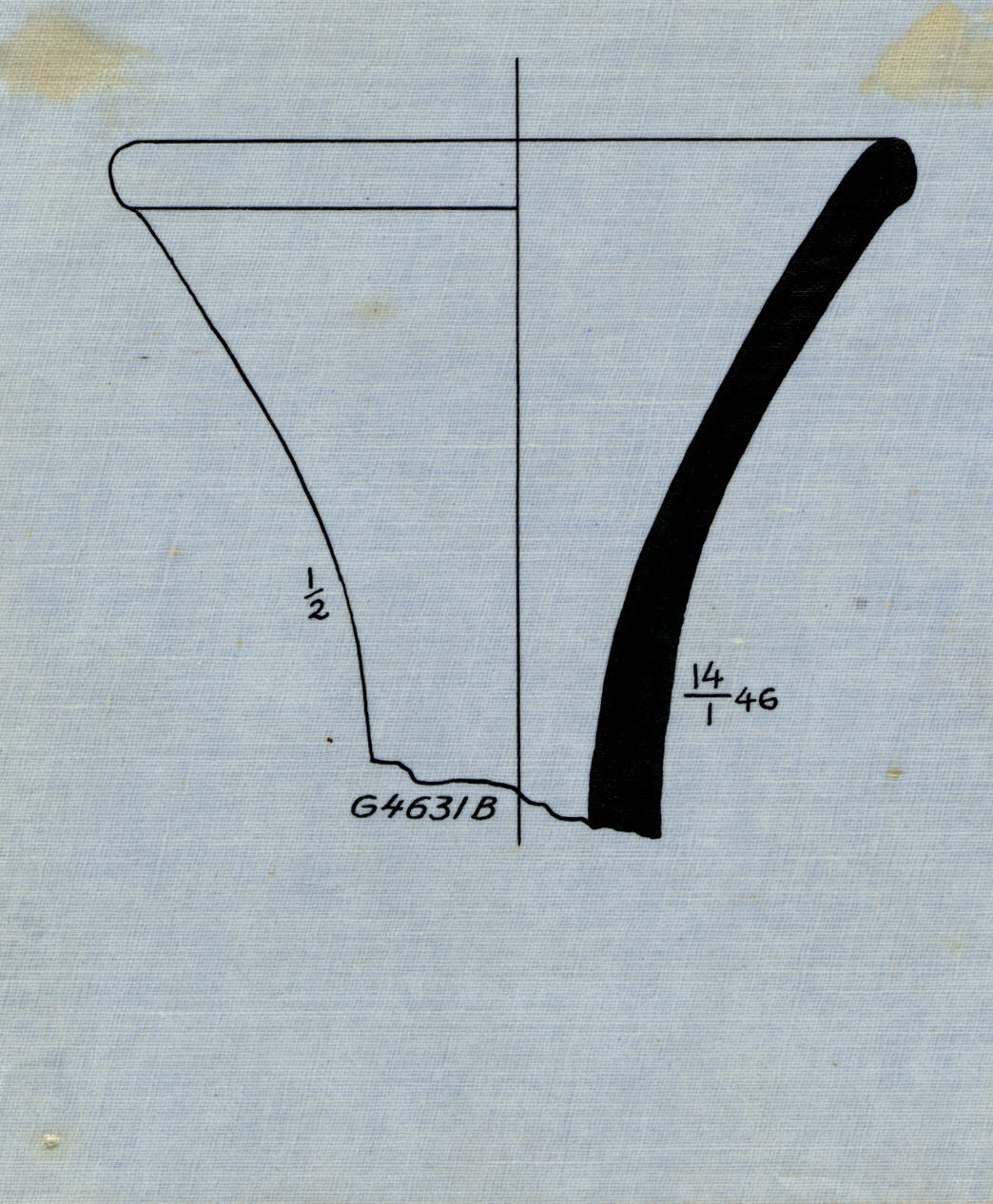Drawings: G 4631, Shaft B: pottery, stand fragment