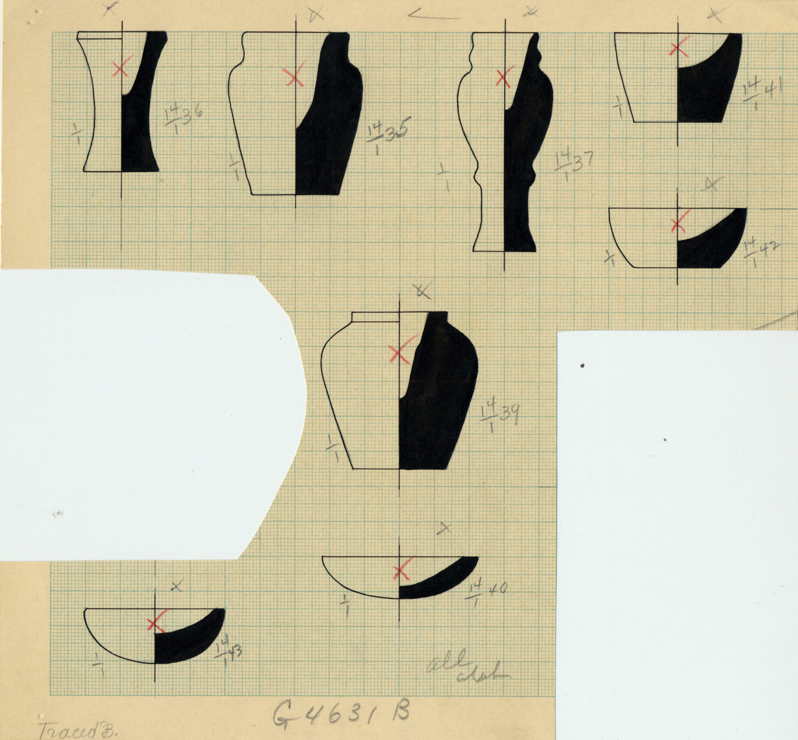 Drawings: G 4631, Shaft B: objects, alabaster