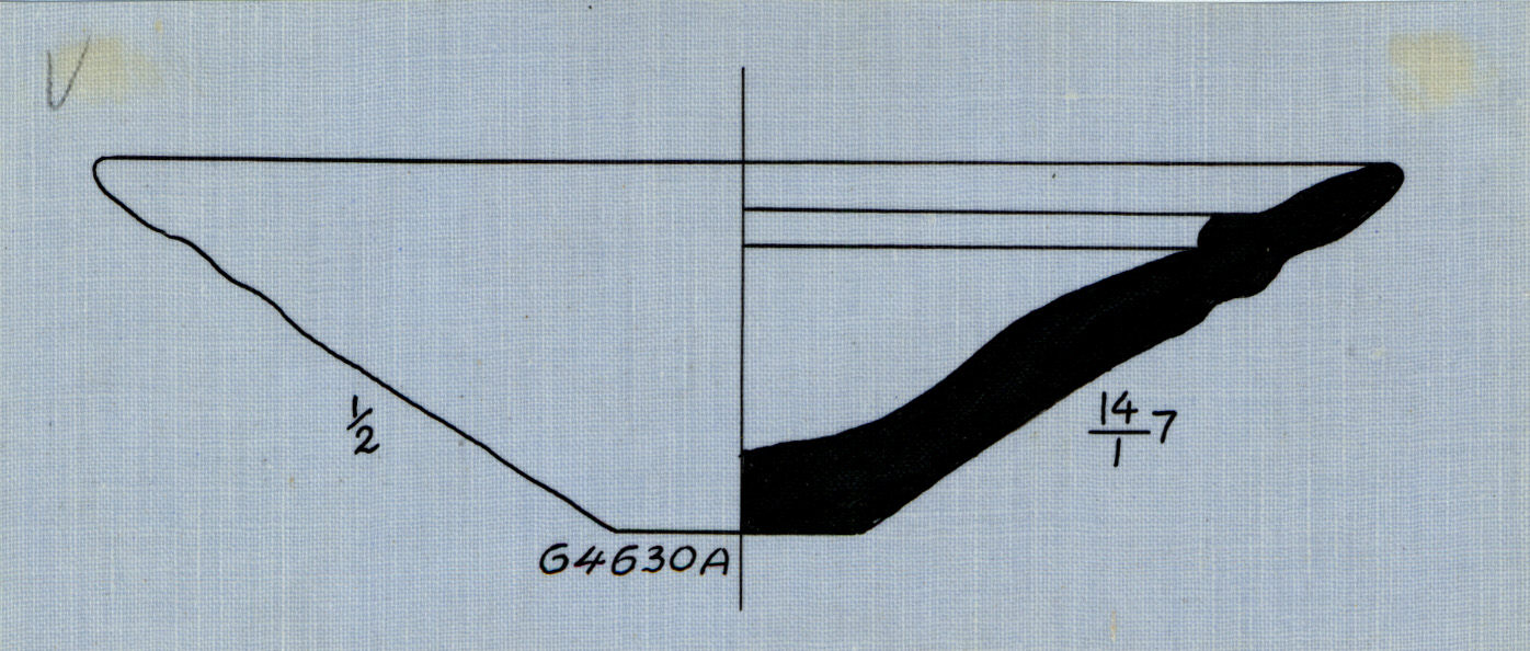 Drawings: G 4630, Shaft A: pottery, dish