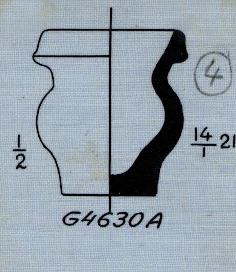Drawings: G 4630, Shaft A: pottery, model jar