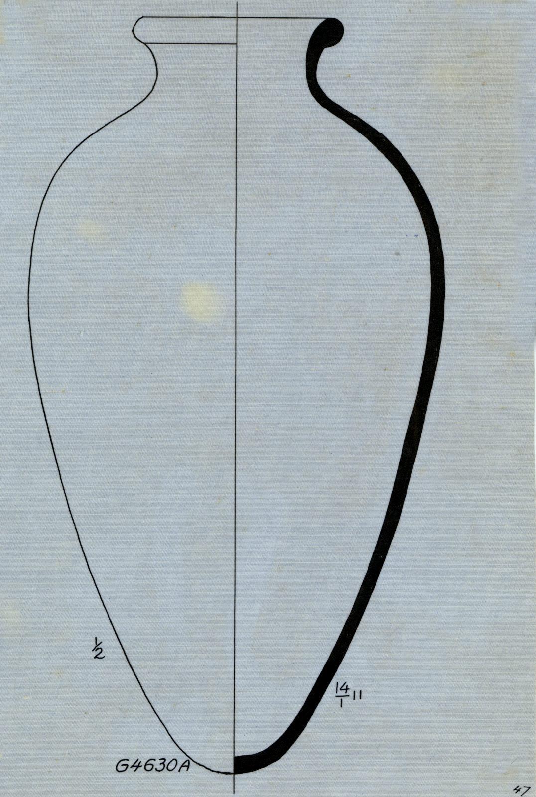 Drawings: G 4630, Shaft A: pottery, jar