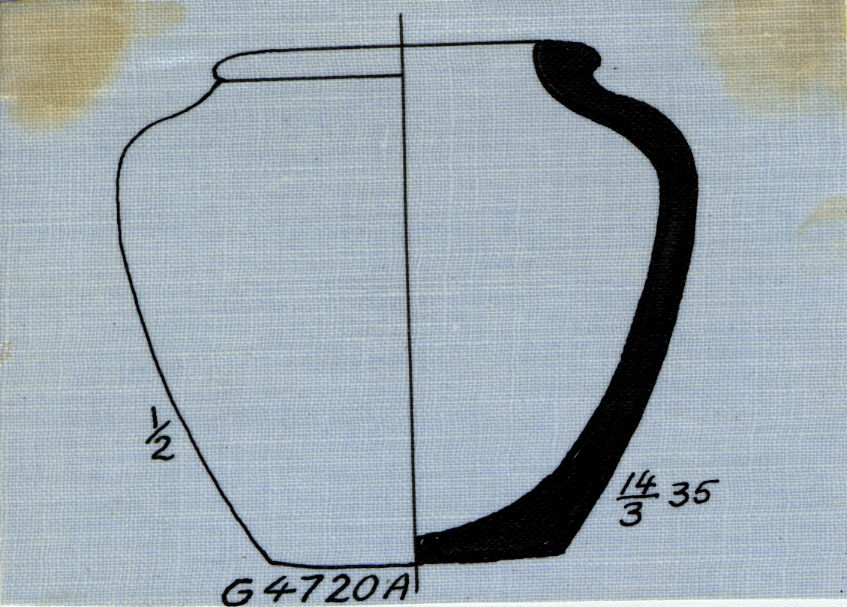 Drawings: G 4720, Shaft A: pottery, shouldered jar