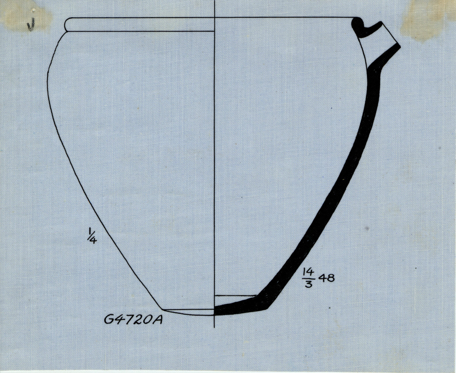 Drawings: G 4720, Shaft A: pottery, basin with spout