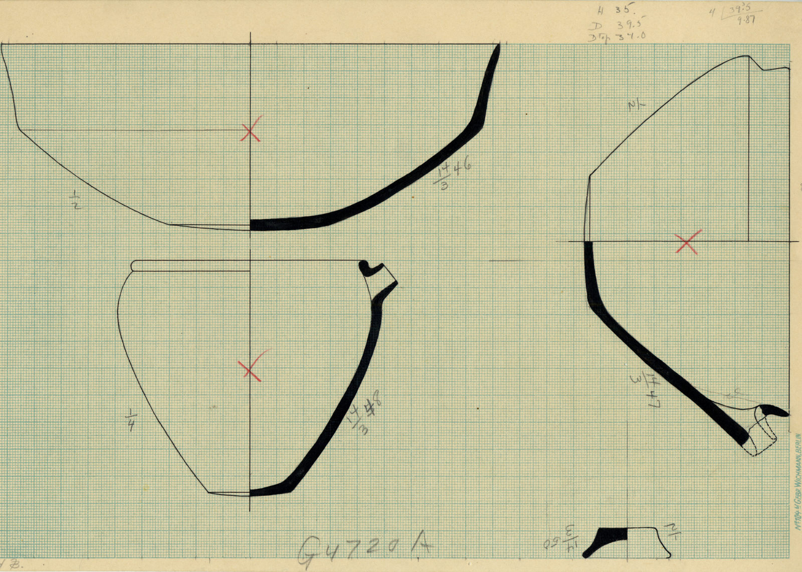 Drawings: G 4720, Shaft A: pottery