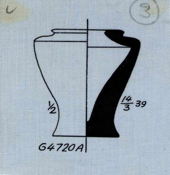 Drawings: G 4720, Shaft A: pottery, model jar