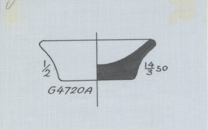 Drawings: G 4720, Shaft A: pottery, model dish