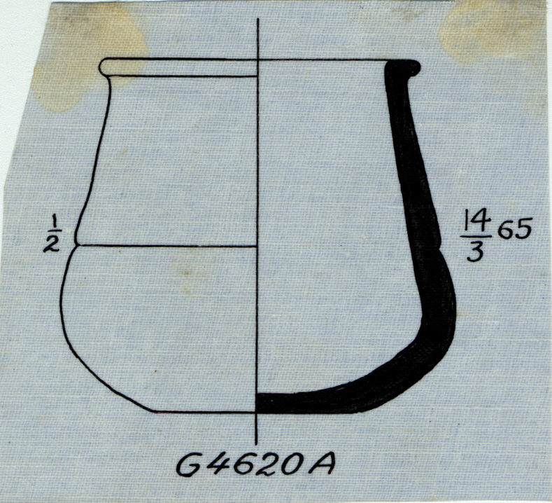 Drawings: G 4620, Shaft A: pottery, jar
