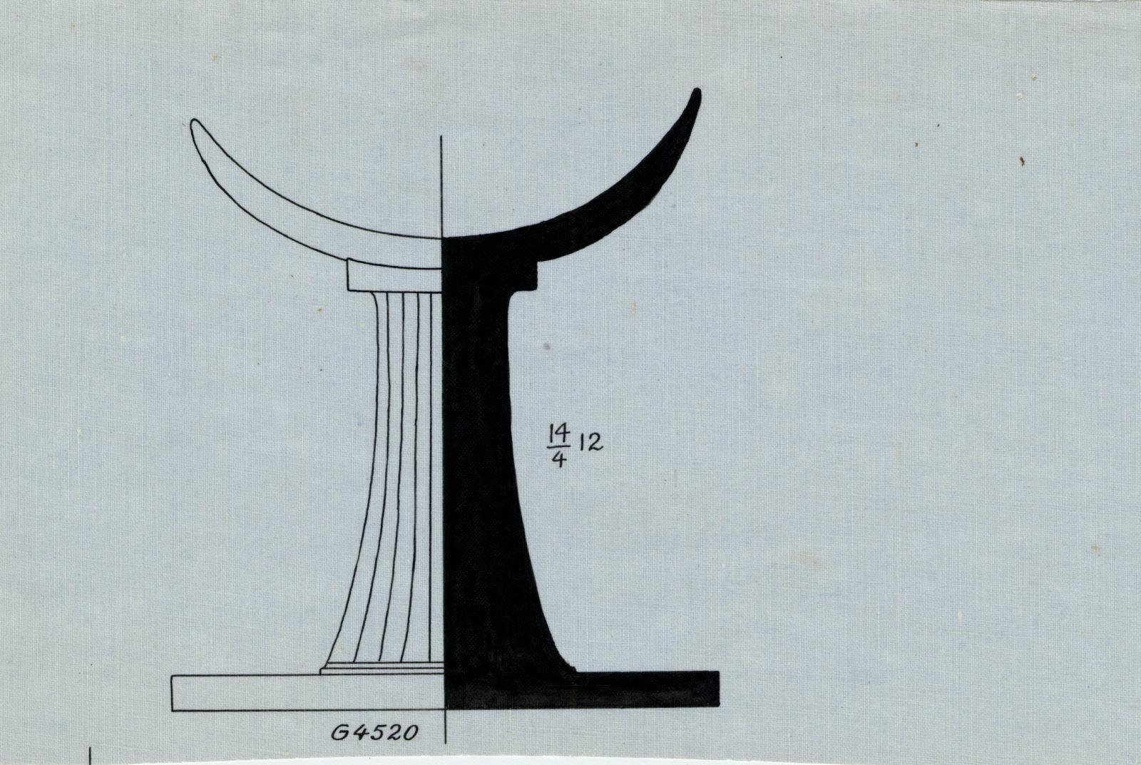 Drawings: G 4520: headrest, alabaster
