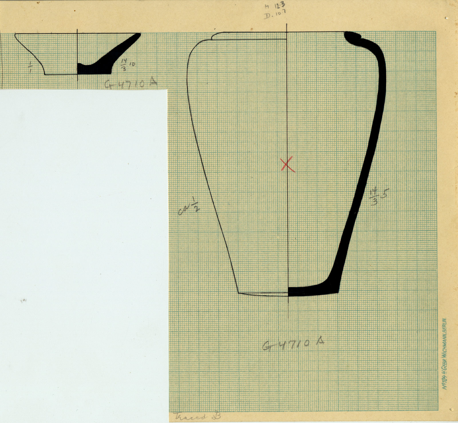 Drawings: G 4710, Shaft A: pottery