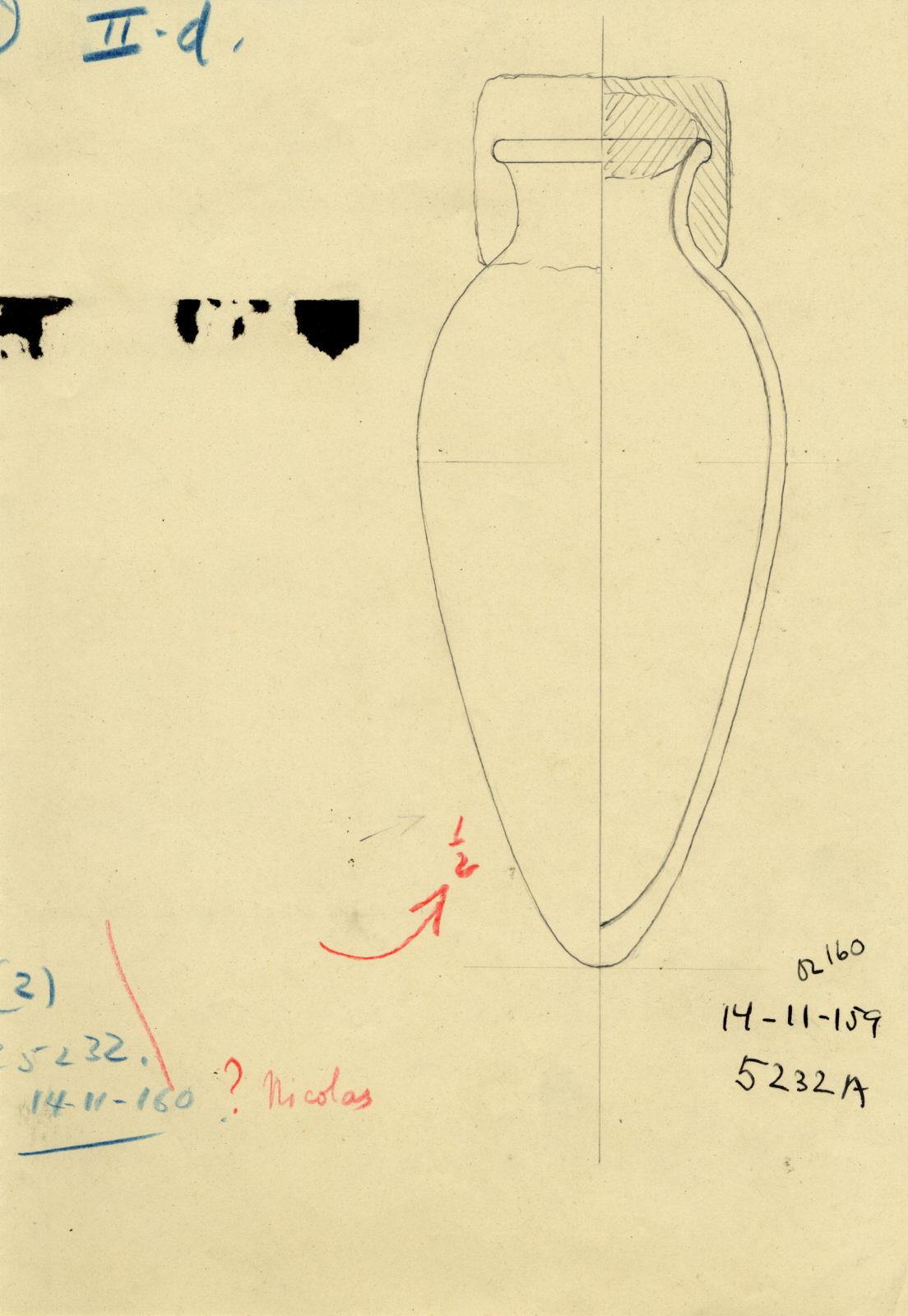 Drawings: G 5232, Shaft A: pottery, jar with stopper