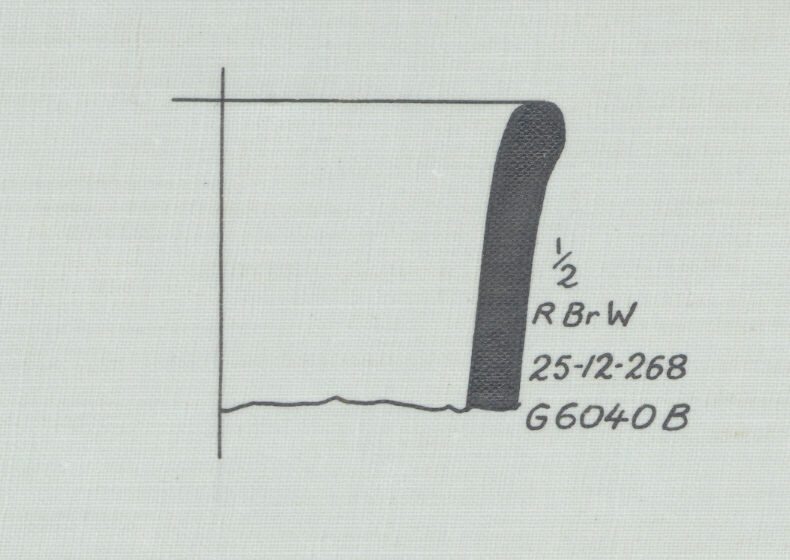 Drawings: G 6040, Shaft B, chamber: pottery, jar fragment