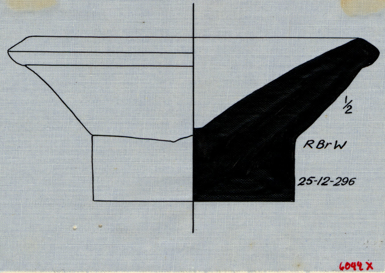 Drawings: G 6044, Shaft X: pottery, bread mold