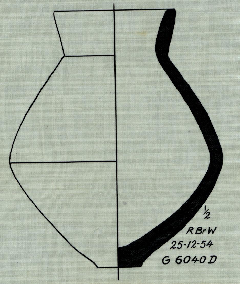 Drawings: G 6040, Shaft D: pottery, jar