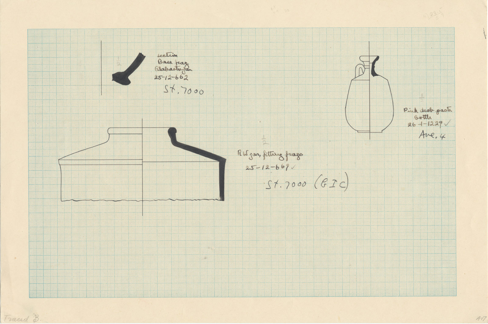 Drawings: Objects from Street Avenue G 4 and G 7000