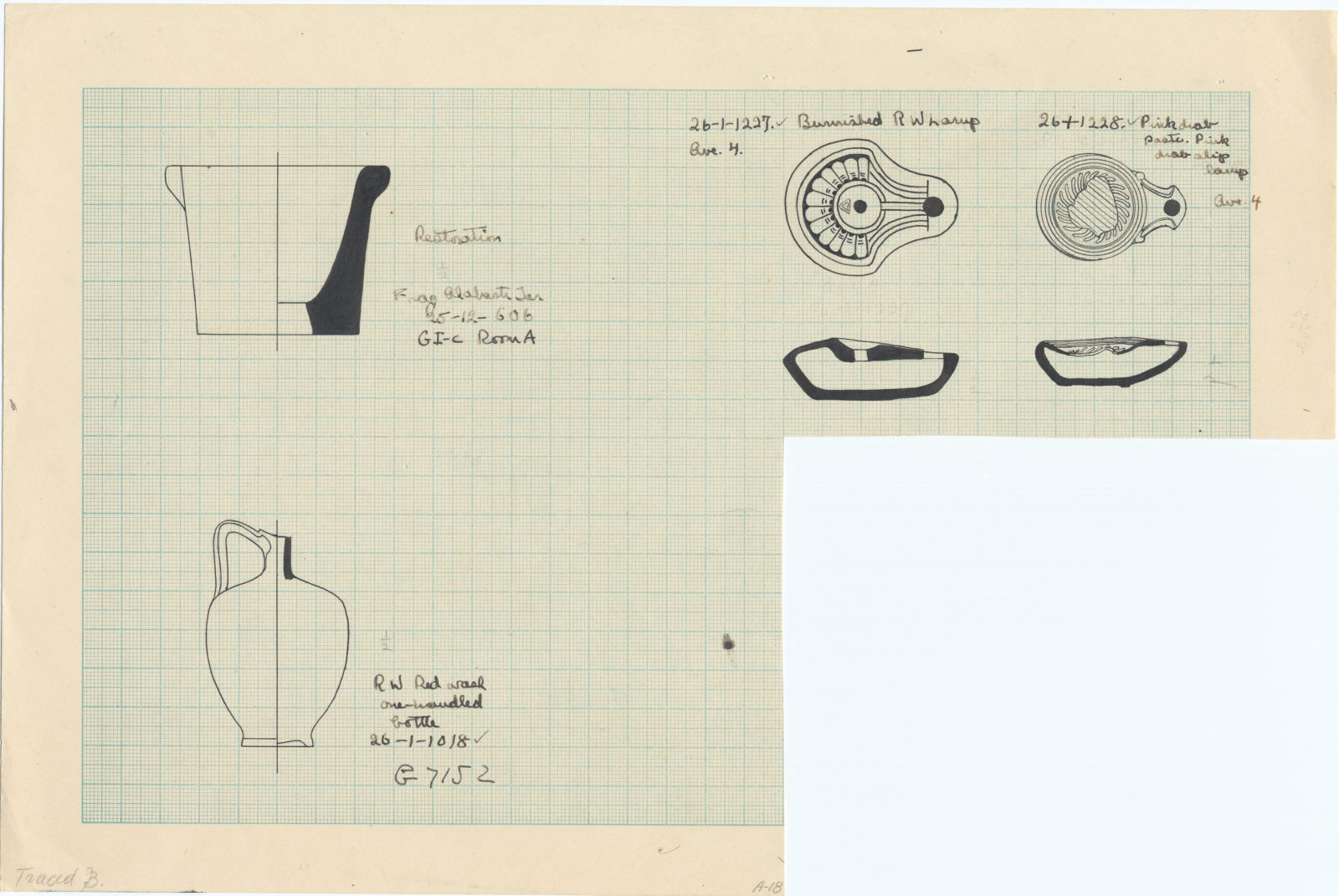 Drawings: Objects from Avenue G 4, G I-c, and G 7152