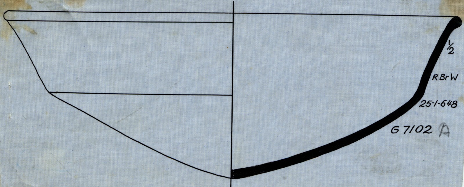 Drawings: G 7102, Shaft C: pottery, carinated bowl
