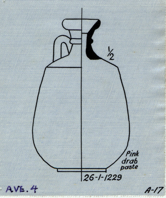 Drawings: Avenue G 4: pottery, bottle with handle