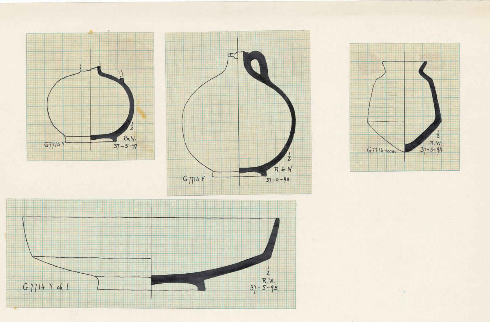 Drawings:  G 7714, Shaft Y: potttery