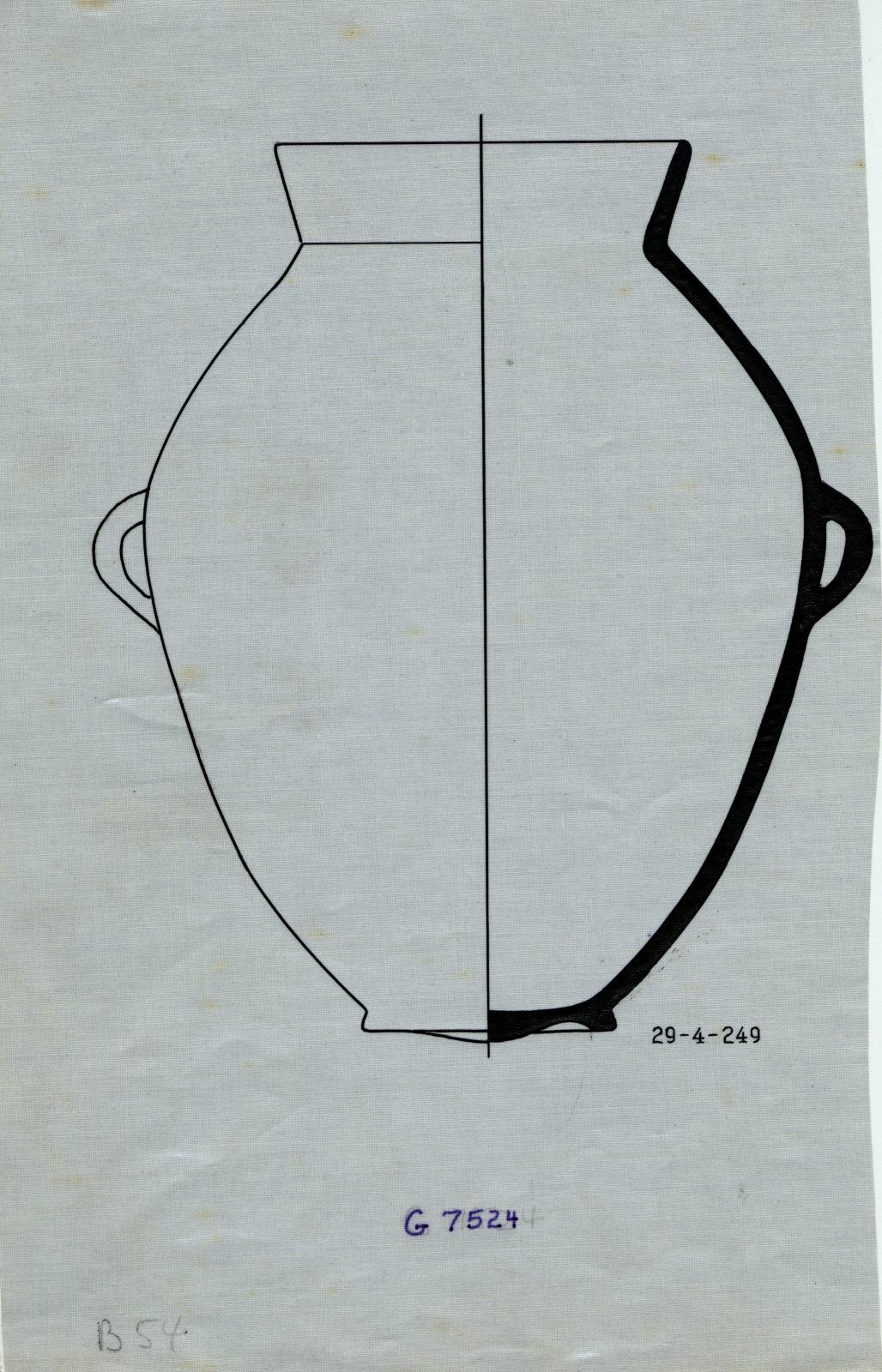 Drawings: G 7524, Shaft A: pottery, jar