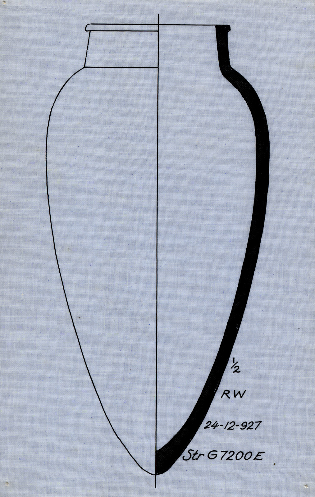 Drawings: Street G 7200, E of G 7220: pottery, jar