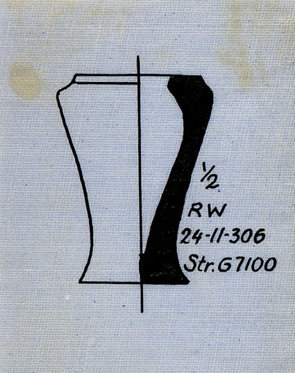 Drawings: G I-b, debris: pottery, model jar