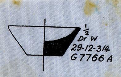 Drawings: G 7766, Shaft A: model dish, limestone