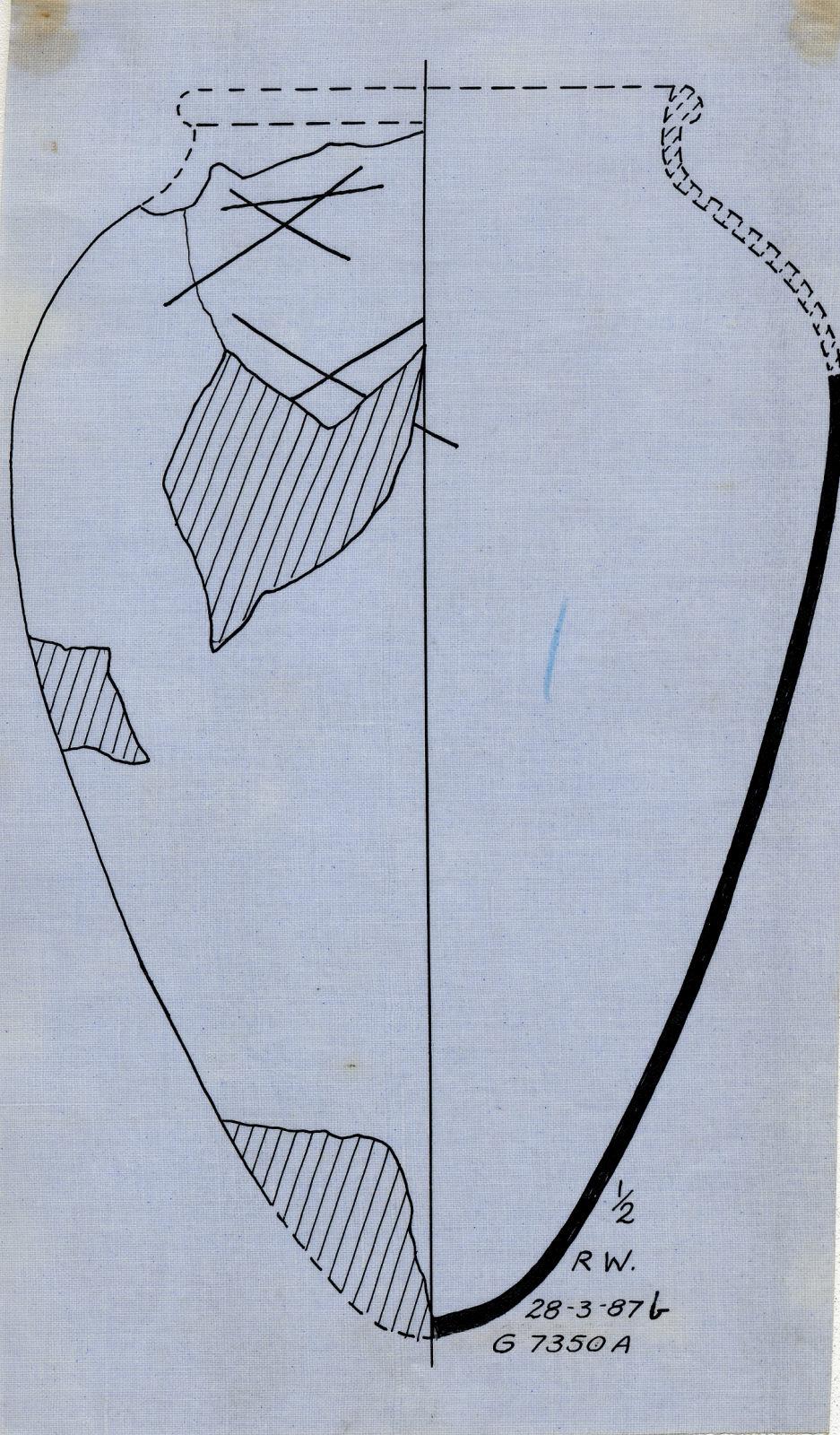 Drawings: G 7350, Shaft A: pottery, jar