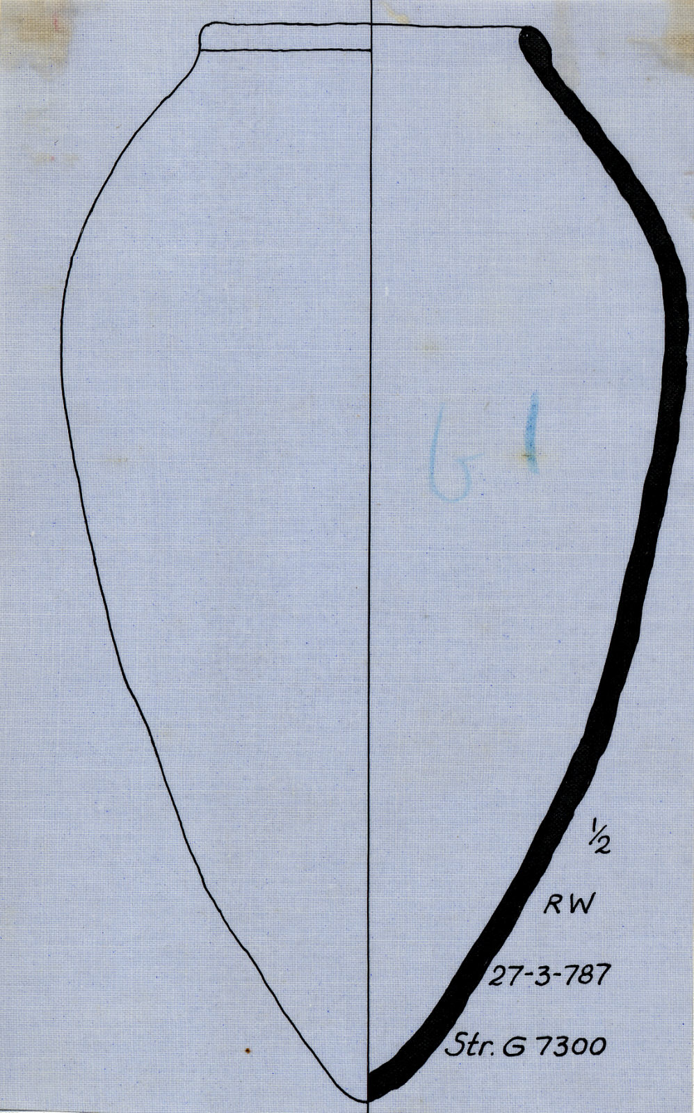 Drawings: Street G 7300, S of G 7350: pottery, offering jar